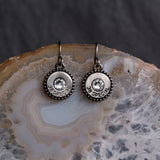 Steel Magnolia charm earrings Silver/Crystal