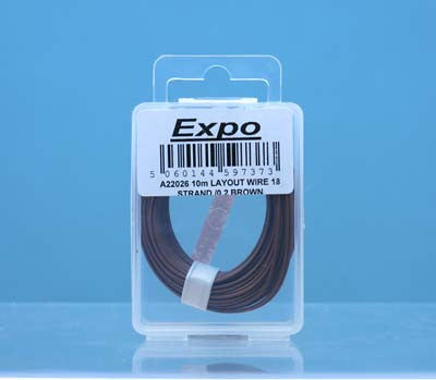 10 Metre Layout Wire - Brown