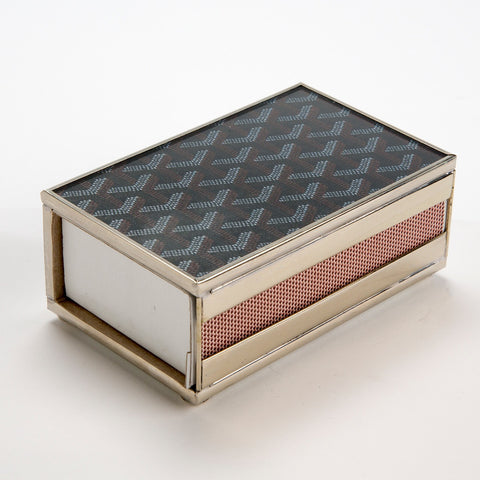 Goyard Inspired Match Box Cover in Cafe