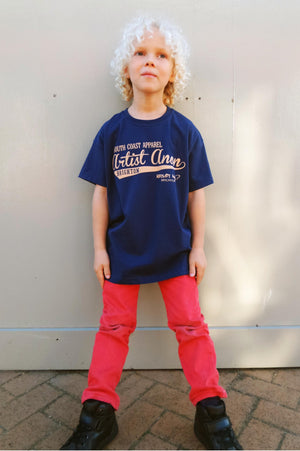 Kid's So Cal Navy t-shirt, Kids - Artist Anon Brighton Clothing