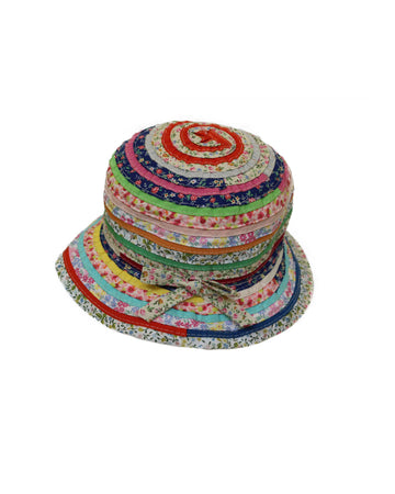 MultiFloral Ribbons Woven Hat