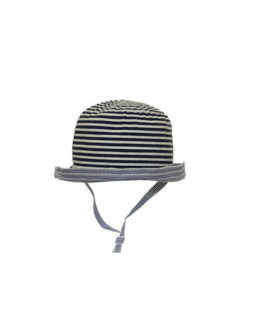 Navy Striped Hat