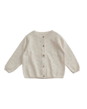 Cotton Pointelle Cardigan