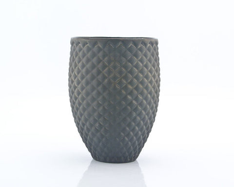 Black Handmade Ceramic Pineapple Tumbler Mug