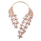 Amazing Arch Ultimate Two-Piece Statement Necklace in Silver or Champagne Gold
