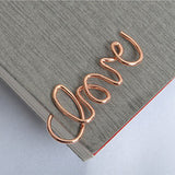 Rose Gold LOVE Paper Clips Set of 10