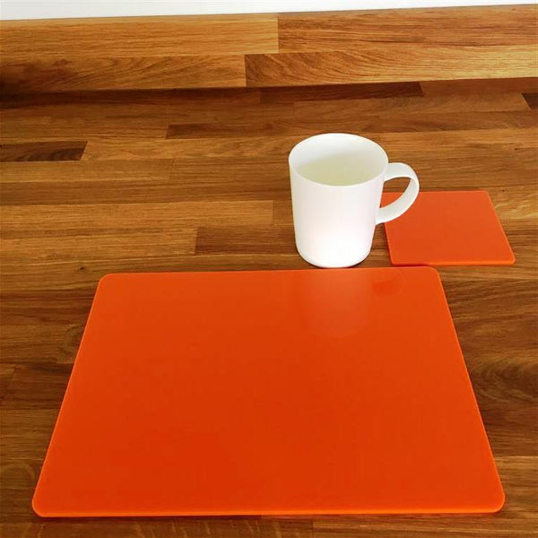 Rectangular Placemat and Coaster Set - Orange