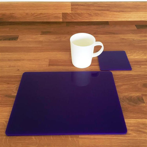 Rectangular Placemat and Coaster Set - Purple