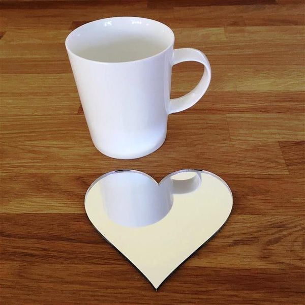 Heart Shaped Coaster Set - Mirrored