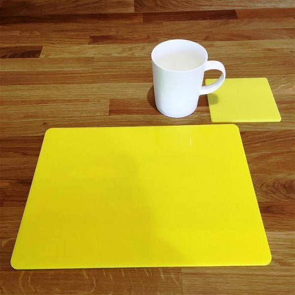 Rectangular Placemat and Coaster Set - Yellow