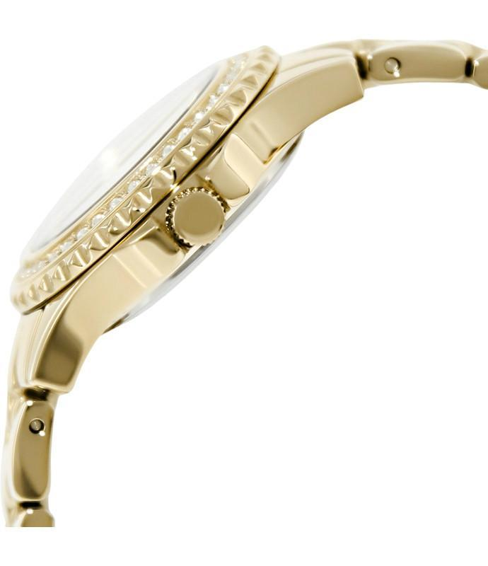 Guess Gold with Mother Of Pearl Dial Womens Watch