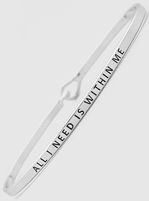 All I Need Is Within Me Bracelets 61-B4315-RH