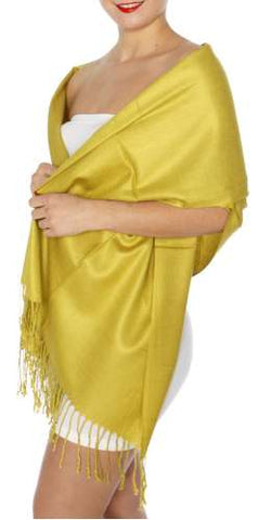 Pashmina Green Gold IS0040