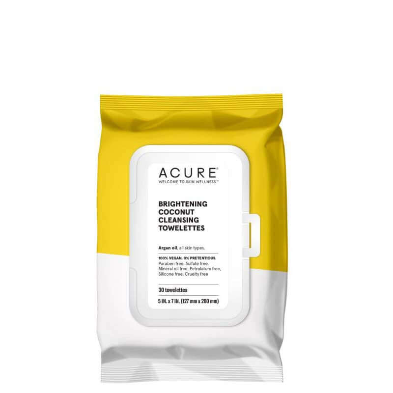 ACURE Brightening Coconut Cleansing Towelettes - Natural Supply Co