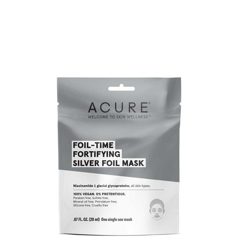 ACURE Foil Time Fortifying Silver Foil Mask - Natural Supply Co