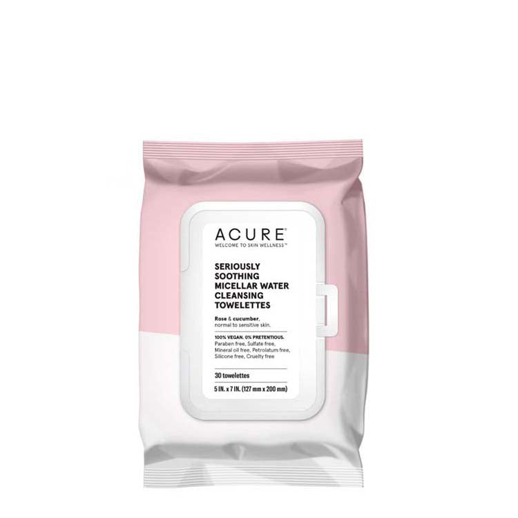 ACURE Seriously Soothing Micellar Water Towelettes - Natural Supply Co