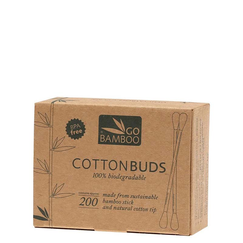 Go Bamboo Cotton Buds - Natural Supply Co