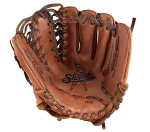 "Palm view of the 11.5"" Six Finger Shoeless Joe Baseball Glove"