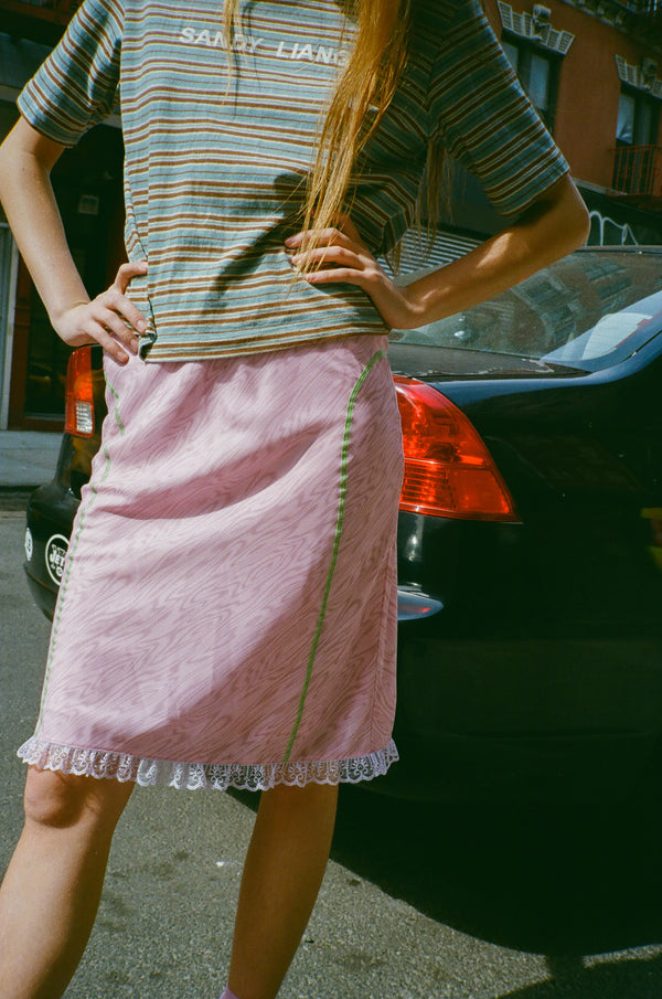 Slippy Skirt in Pink Plywood