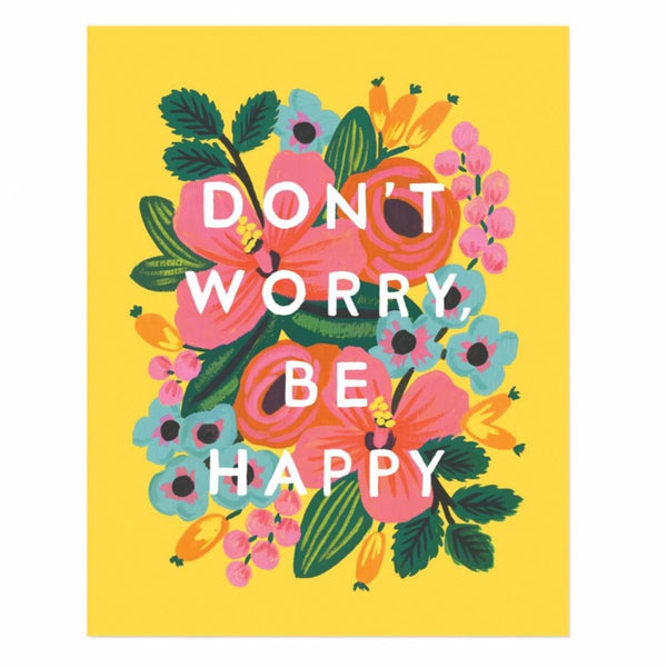 Greeting Card - Don't Worry Be Happy - Oxley and Moss