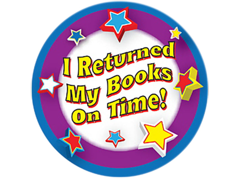 I Returned My Books On Time Stickers