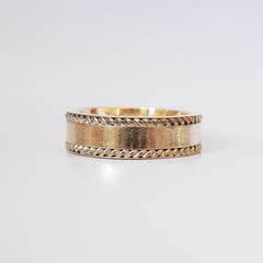 14K Twist Ring Band - Tippy Taste Jewelry