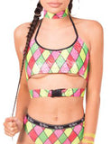 Harlequin Buckle Top