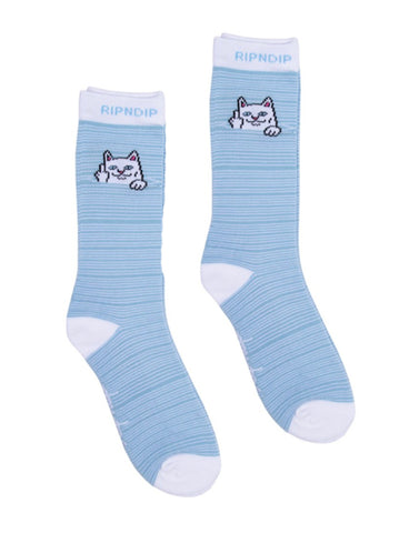 PEEKING NERMAL SOCKS - BABY BLUE/WHITE *PRE ORDER*