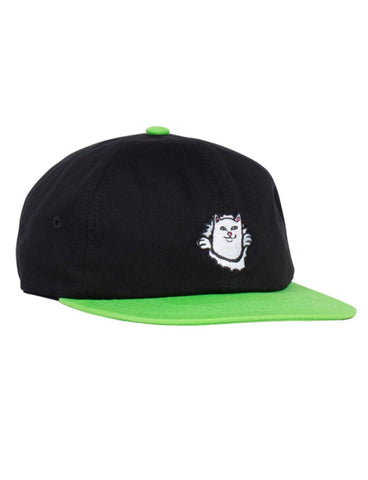 NERMAMANIAC 6 PANEL STRAPBACK - BLACK/GREEN *PRE ORDER*