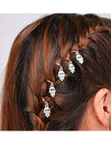 HAIR RINGS - SILVER HANDS