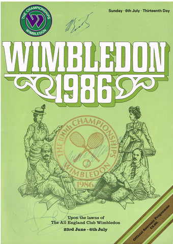 100th Wimbledon Championships Programme SIGNED BY JEAN BOROTRA