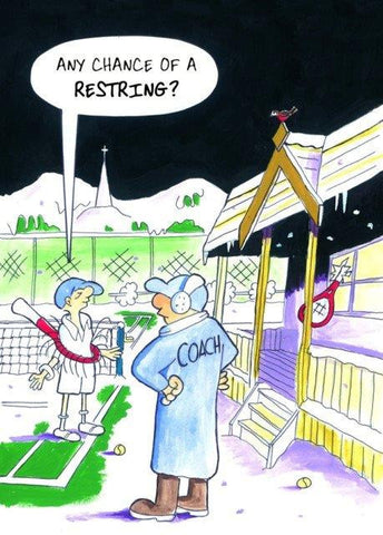 "Christmas Card - ""Any Chance of a Restring?"" (Order Ref CC07)"