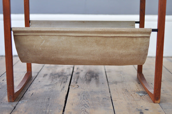 Exceptional Suede Magazine Rack