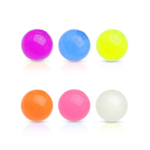10pk Glow in the Dark Threaded Balls Replacement Parts