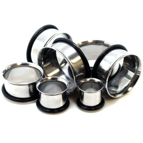 "Steel Single Flare Tunnels - PAIR 12g thru 2"" available"