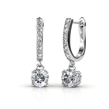 Destiny Allena Earrings with Swarovski Crystals