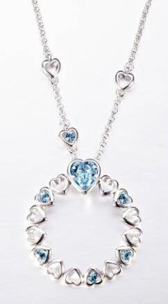 CDE Halo Heart Necklace embellished with Swarovski Crystals