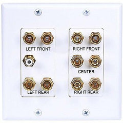 2-Gang 5.1 Surround Sound Distribution Wallplate - White