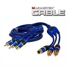 6 ft. Monster Cable CamLink 400 S-Video & 2 RCA (M) to (M) Video-Audio Cable - Gold Plated Connectors - Blue