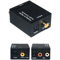 Analog 2-RCA L/R Audio to Digital Optical Coaxial Toslink Audio Converter