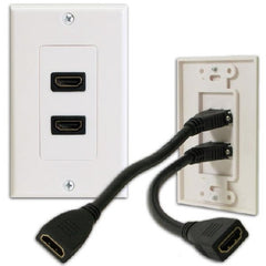 Double HDMI Wallplate with 2 3in. Extension Flex v1.4
