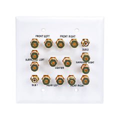 2-Gang 7.2 TechCraft Surround Sound Distribution Wallplate