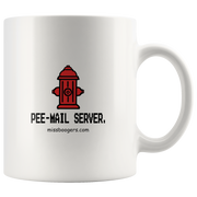 11 oz. Coffee Mug – 'pee-mail server' Hydrant - Miss Booger's Pet Sitting & Supplies