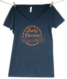 Baby Carrots: Nature's Cheeto Ladies' V-Neck Tee