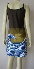 GIANT WAVE Hokusai UKIYOE Japanese Fine Art Print Dress Misses S M L XL