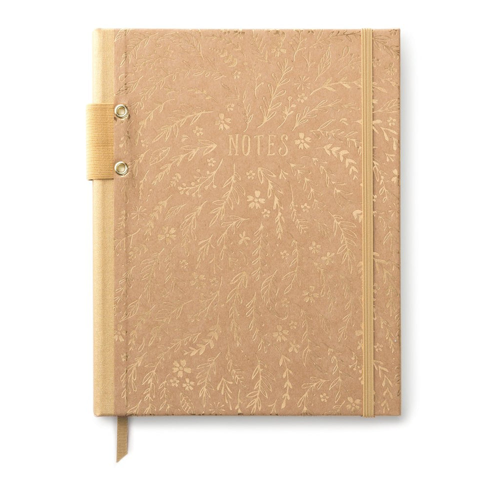 DesignWorks Kraft Floral Notes Journal