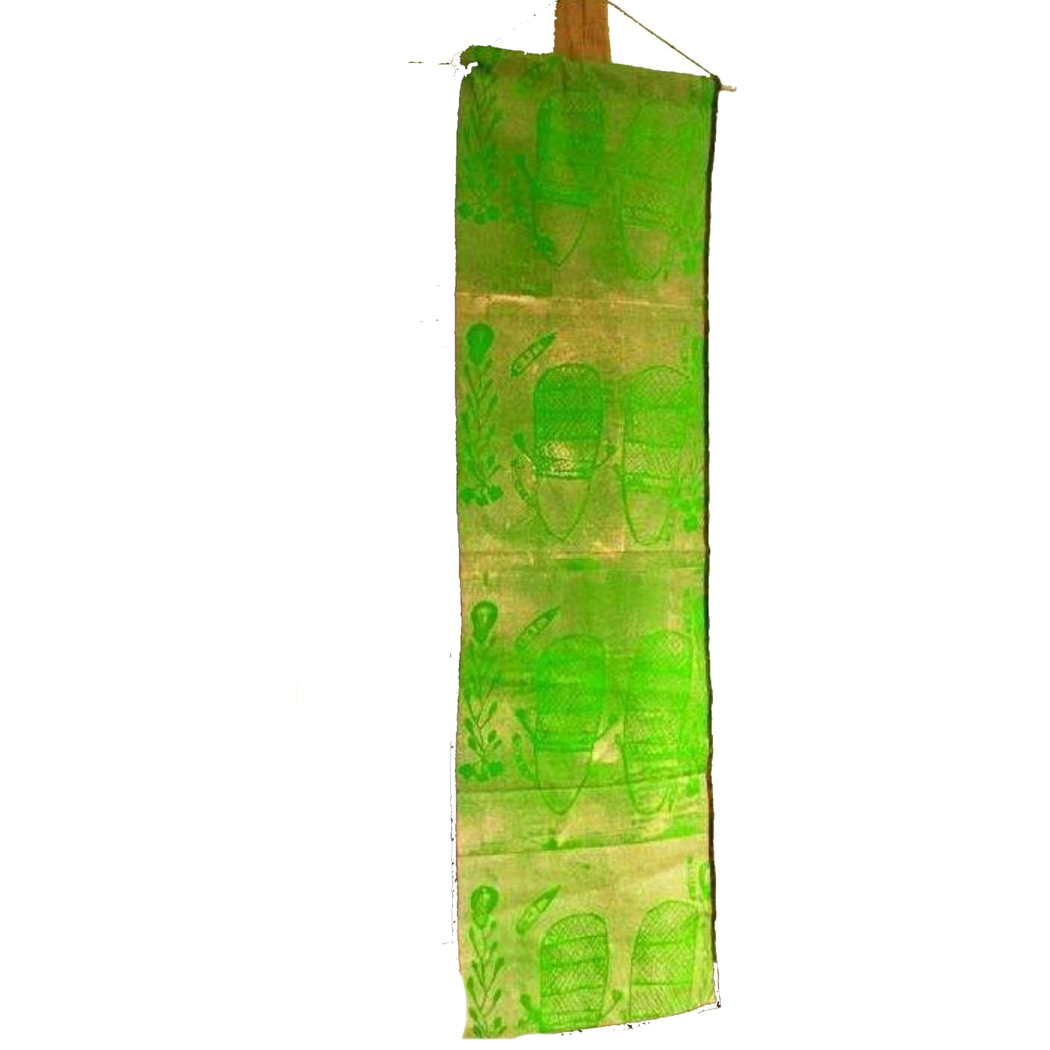 MK Eco by Starwin Bawaninga Aboriginal Corporation Babbarra design wall hanging - Green