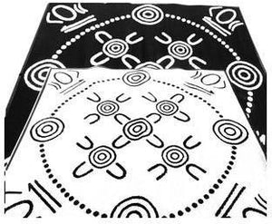 Starwin Social Enterprise, Aboriginal Mats - Gatherings Black 1.8 x 1.8m