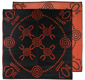 Starwin Social Enterprise, Aboriginal Mats - Gatherings Orange