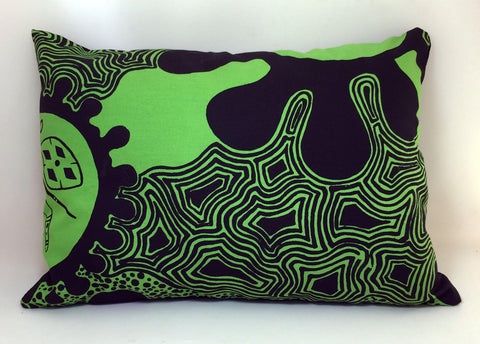 Bye Mee Travel Cushion - Yarrabah Green-Bye Mee-Starwin Social Enterprise